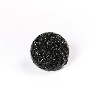 Clearance 28 Ligne (18mm) Swirly Shank Buttons Black - Sewing, Craft (Wholesale)