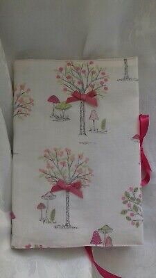 Pretty Handmade Fabric Book or Notebook cover. Standard A5.  Notebook included