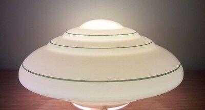 Large Antique 1930s Art Deco Ceiling Light Shade Vintage Pendant Lamp