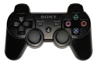 PS3 OFFICIAL WIRELESS DUALSHOCK 3 SIXAXIS CONTROLLER (BLACK) Playstation 3 A