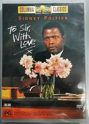 To Sir, With Love (1966) Sidney Poitier DVD Release 2000 R4 Very Good Condition