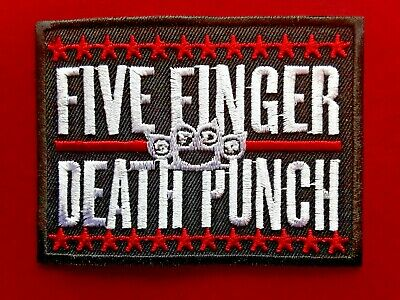 Five Finger Death Punch American Heavy Metal Music Embroidered Patch Uk Seller