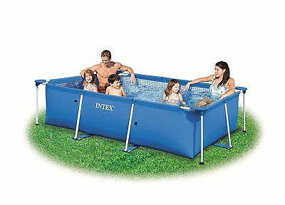 Large Swimming Pool Framed Family Summer Playing Swim Kids Fun Backyard