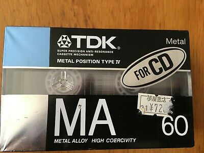 Tdk Ma 60 Metal 2 Pack Factory Sealed Audio Cassettes Japan