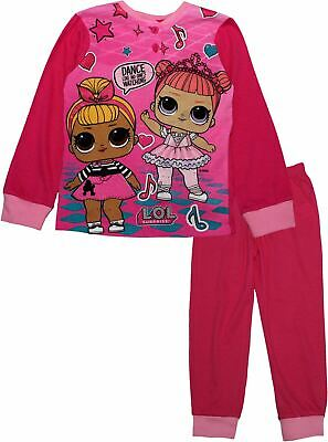 Lol Surprise Doll Girls Kids Long Sleeve Pjs Pyjamas Set