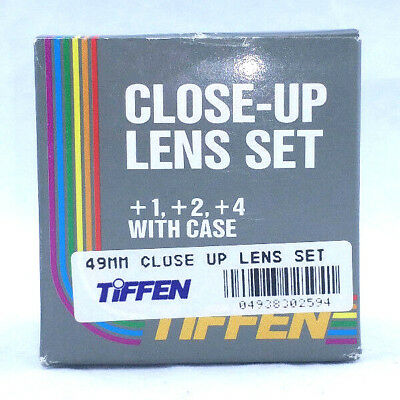 Tiffen Close-up Lens Macro Set, 49mm, +1 + 2 + 4