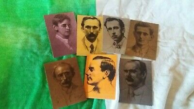 Irish Republican Set Of 7 1916 Leaders Easter Rising Full Set Collectable