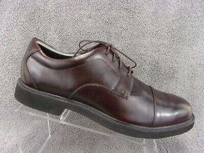Rockport Dressports Mens Lace Up Cap Toe Burgundy Leather