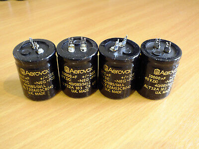 NAIM AUDIO GENUINE BHC AEROVOX capacitors SET OF 4 - NAP140 180 10000uF 40V  DIY!
