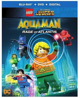 LEGO DC Super Heroes: Aquaman - Rage of Atlantis (Blu-ray+DVD, 2-Disc Set, 2018)