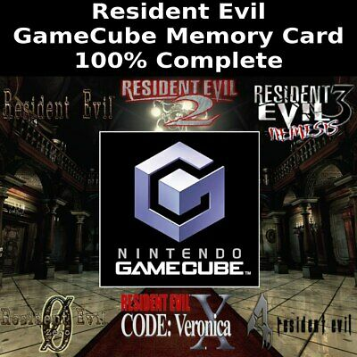 Unlocked Resident Evil Saves | 100% Complete | GameCube Memory Card