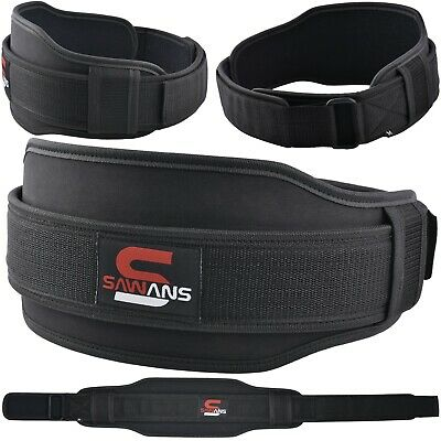 SAWANS® Weight Lifting Belt Gym Training Neoprene Fitness Workout Double Support