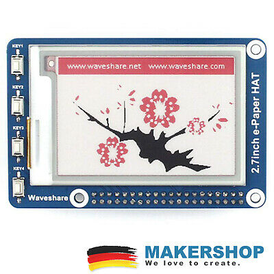 Waveshare 264x176  2.7inch E-Ink Display HAT Raspberry Pi 3 Farbe