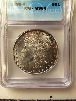 1890-S ICG MS64 S$1 Silver Morgan Dollar