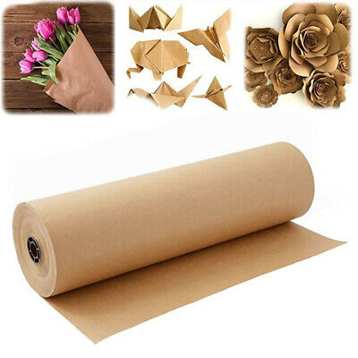 30Meters Blank Kraft Parcel Paper Roll for Packing Wrapping Gift Parcel 30cm
