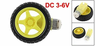 DC 3-6V Smart Car Robot Plastic Tire Wheel Robot Arduino Gear Motor Smart Chassi