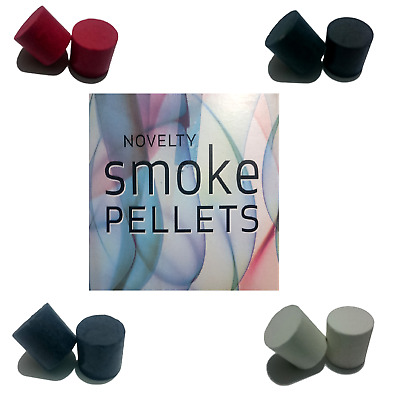 2 Pk Novelty Smoke Pellets Assorted Colours Special Effects Party Jokes Pranks