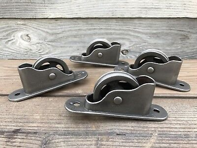 Vintage Window Sash Pulleys (4) ~ Clean, Polished, Large Cast Iron Sash Pulleys