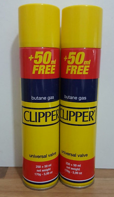 2 x 300ml Butane Gas Lighter Clipper  Universal  High Quality  Refill Fluid Fuel