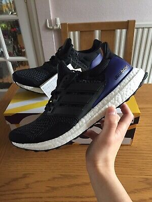 edce7d94ac1 BNIB adidas Ultra Boost OG 1.0 Black Purple UK 8 US 8.5 EU 42 Ultraboost