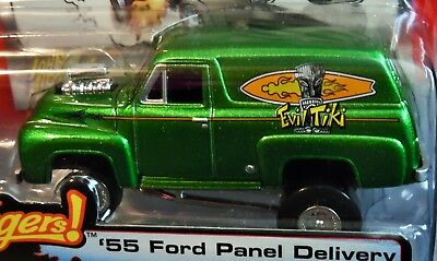 """Johnny Lightning 55 1955 Ford Panel Delivery Zingers Canned Goods """"evil Tiki"""""""