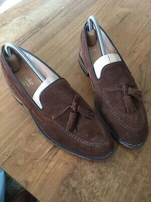 9b3e1a61 LOAKE MENS LINCOLN Tassel Loafer Brown Suede Size 7.5 - £58.00 ...