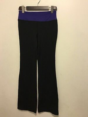 5bae9af1944ad FILA Sport Womens Yoga Pants Black Bootcut Workout Athletic Stretch Size  Small