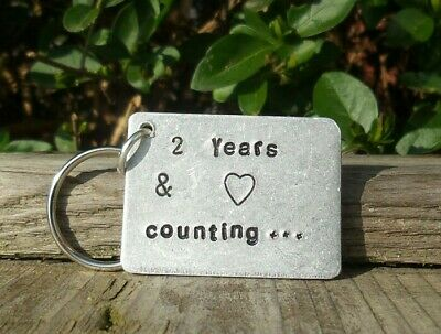 1st Wedding Anniversary gifts For Him 1 YEAR /& Counting Handmade Keyring First