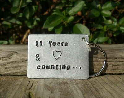 11 Years & Counting 11th Wedding Anniversary Gifts Steel Eleven Keyring Keychain