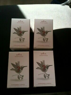 HALLMARK HUMMINGBIRD SURPRISE Christmas Ornament 2018  FOUR UNOPENED boxes