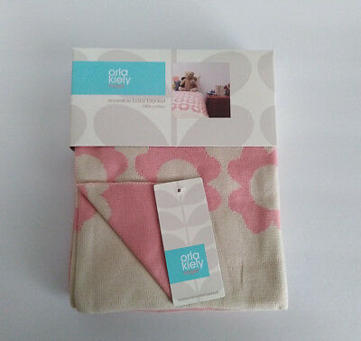 d69ae1b0a4a1 NWT Orla Kiely Target Reversible Baby Girl Blanket Pink Flowers Cotton Knit