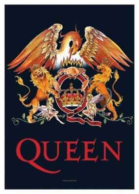 Queen Fahne Flagge Crest Logo Posterfahne Posterflagge Textilposter flag