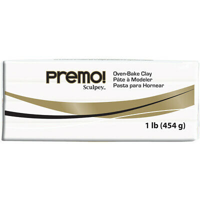 Premo Sculpey Polymer Clay 1lb-White - 3 Pack