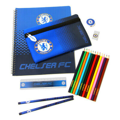 Chelsea Fc Officially Licensed 19 Piece Stationery Set Free Shipping Usa