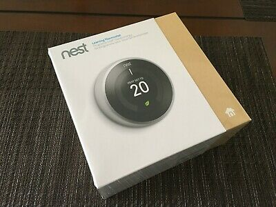 Nest Learning WIFI Thermostat 3rd Generation - Stainless Steel. Brand New!