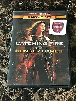 The Hunger Games: Catching Fire/The Hunger Games  DVD Includ UV Code [Mint Cond]