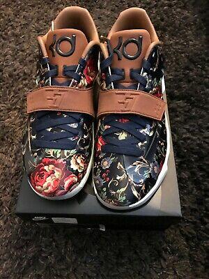 reputable site 62897 6e157 NIKE KD 7 EXT FLORAL QS 726438 400 midnight navy black hazelnut Size 13 10  11