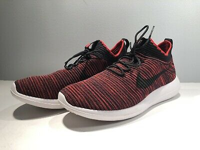 115b3e36fc4a Nike Men s Size 8 Roshe Flyknit v2 Red And Black Running Shoes 918263-601  Bred