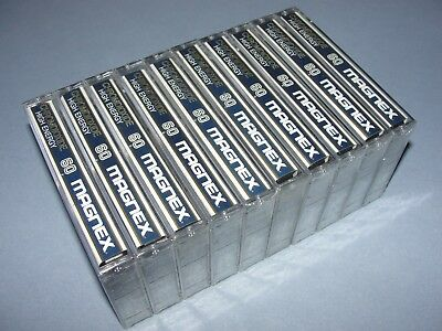 Audio Cassette Magnex 60' Chromdioxide ..10 Pcs New Sealed