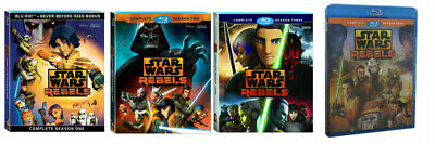 Star Wars Rebels Complete Animated TV Series Season 1 2 3 4 (Blu-Ray) Bundle NEW