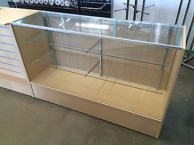 Maple 1200mm glass display retail shop counter BRAND NEW flat packed