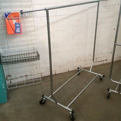 Single Collapsible Clothes Rack Brand New On Castors