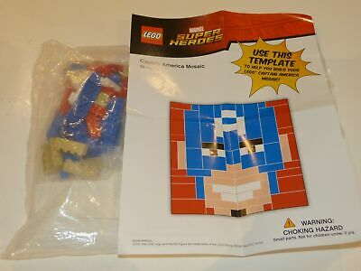 Toys R Us-Exclusive Lego Marvel Super Heroes Captain America Mosaic. 72 Pieces