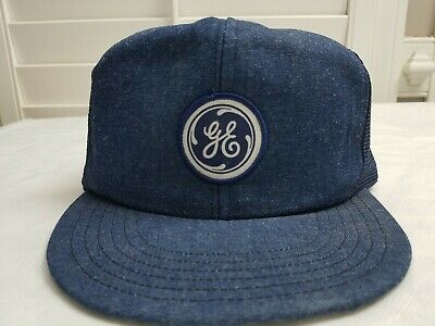 38a8fe6fd72 GE General Electric Vintage 1980s SnapBack 80s Trucker Patch Hat Cap Made  in USA