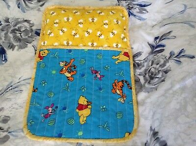 Handmade quilted sleeping bag for a teddy bear/doll. Large size