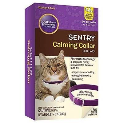 Sentry Calming Collar For Cats 3 Pack Pet Supplies IN HAND & READY TO SHIP