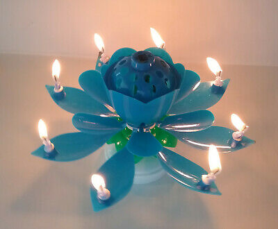 Amazing Lotus Flower Musical Birthday Candle