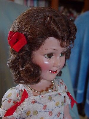 Ideal Vintage Composition Deanna Durbin Doll Mint With Original Pin, Flawless!