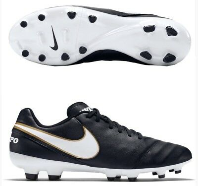 d190b1a4a Nike Tiempo Genio Ii Leather Fg Mens Soccer Cleats Shoes Black New Size 8