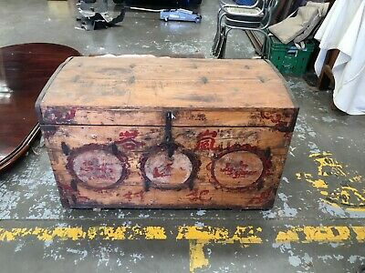 Chinese Antique Large Travel Chest